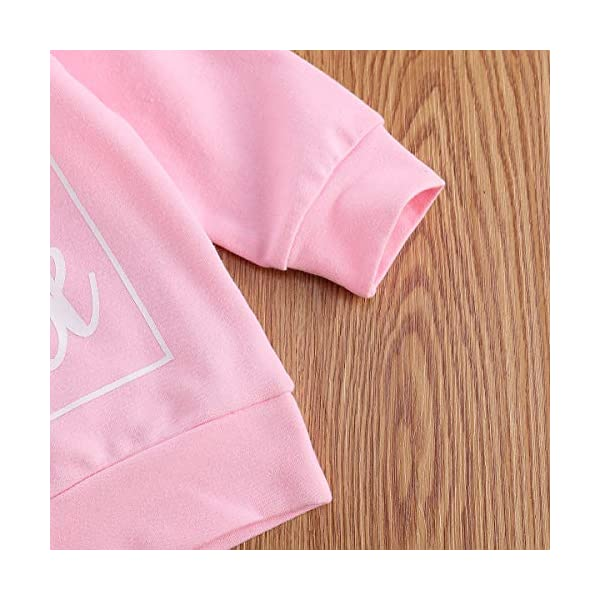 Felpa T-Shirt Bambino Bambina Unisex Maglia in Cotone Girocollo a Maniche Lunghe con Stampa di Lettere Casual Carino 0-3… 5