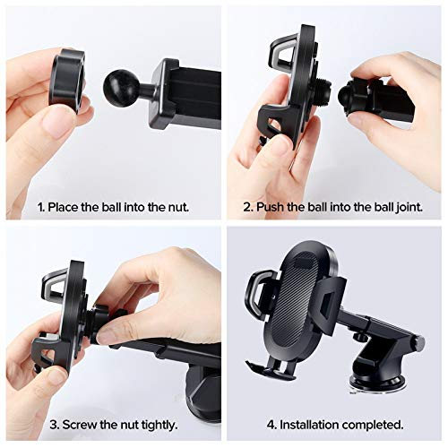 312 Market Place Universal Car Phone Mount Samsung Galaxy S10 S9 S8 S7 Note 10 LG Sony and More Hands Free Cradle Compatible with iPhone 11 Pro XS XR X 8 7 6 SE