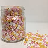 Pink /& Yellow 100s /& 1000s Sugar Sprinkles Cupcake Decorations