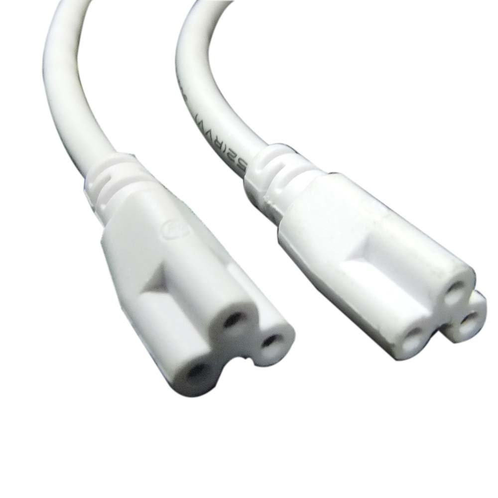 (200pack) T5 T8 LED Lamp connecting wire white integrated tube cable linkable cords connector (0.3m) by J&L