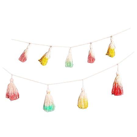 Guirnalda de borla Colorida decorativos DIY de de Fiesta de ...
