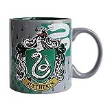Universal HP3734 Silver Buffalo Harry Potter Movie Slytherin Crest Ceramic Mug, 20 oz, Multicolor