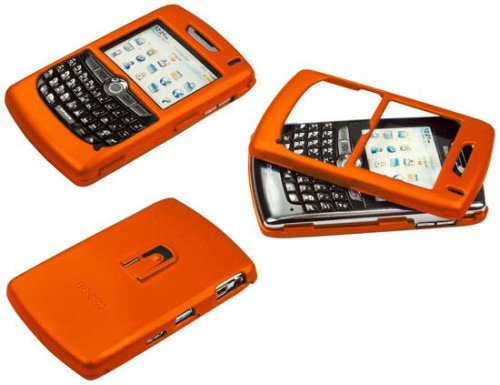 (ORANGE RUBBERIZED PROGUARD HARD COVER CASE for RIM BLACKBERRY 8800/8830 - RETAIL PACKAGING)