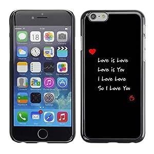 PC/Aluminum Funda Carcasa protectora para Apple Iphone 6 I love you / JUSTGO PHONE PROTECTOR