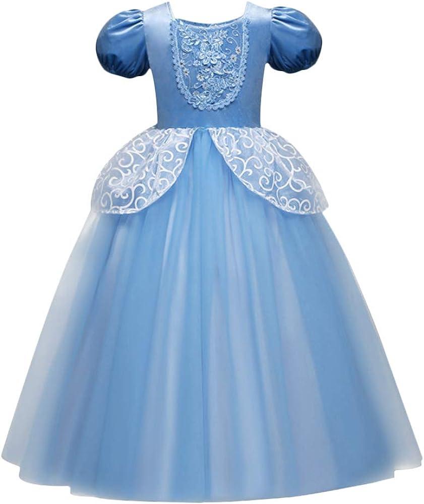 OBEEII Niñas Cenicienta Disfraz Cinderella Carnaval Traje de ...