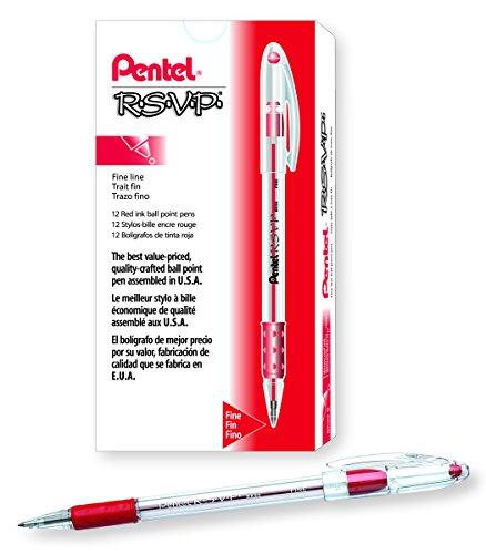 Pentel R S V P Ballpoint 0 7mm BK90 B