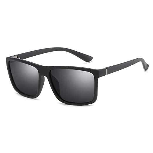 72edf2ef5a29f Bomloja Ultralight Luxury Rectangle Polarized Driving Fishing HD Sunglasses  for Men (all grey)