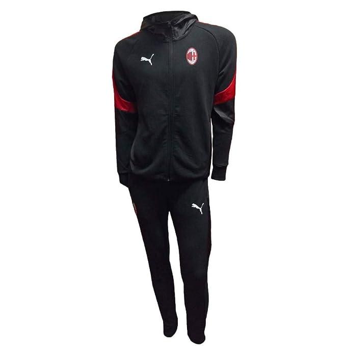 6b57140d02ee0c Tuta Con Cappuccio Nera Ufficiale A.C. Milan 2018/2019 (XXL): Amazon.it:  Abbigliamento