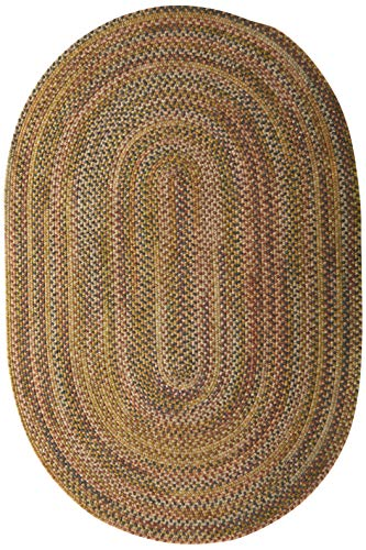 - Colonial Mills Rustica Braided Rug, 4 by 6', Grecian Green