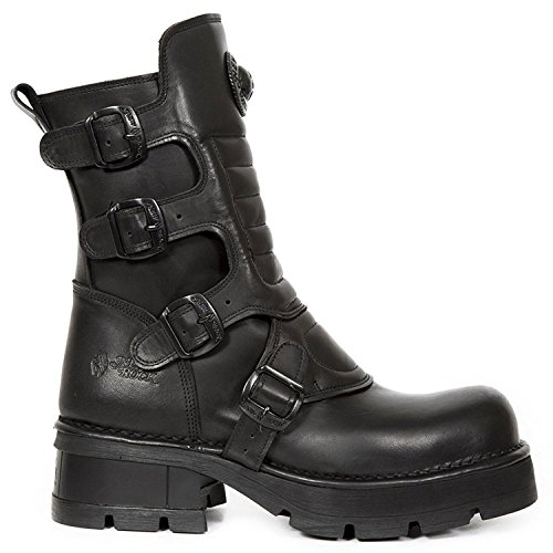 Womens 373x Rock Boots Leather Crust Black s26 New M AT15xqAw