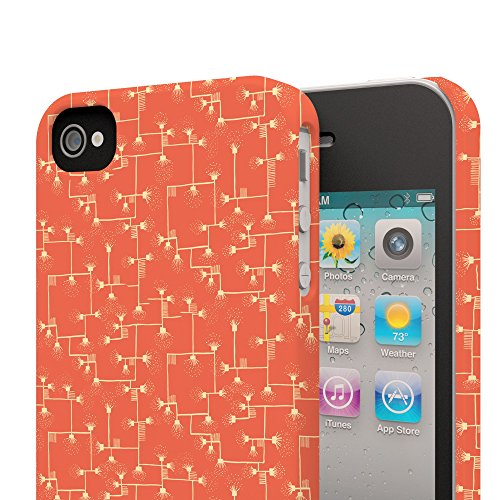 Koveru Back Cover Case for Apple iPhone 4/4S - Tangerine Connections
