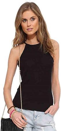 Camisetas sin Mangas para Mujer, Mujeres Slim-fit espalda abierta Tank Top Micro-transparente elegante camisola delgada camisa de yoga Activewear ropa entrenamiento chaleco Camisa sin mangas Chaleco T: Amazon.es: Hogar