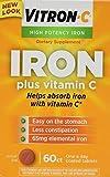 Vitron-C Iron Supplement Plus Vitamin C Coated Tablets 60 ct (5 Pack)
