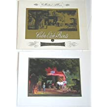 Collector's Album of 4 Color Etch Prints by Paul Detlefsen (Horse and Buggy Days; A Sturdy Landmark; The Big Moment; The Good Old Days)