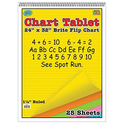 Top Notch Teacher TOP3820BN Chart Tablet 24X32, 1.5 Inch Ruled, MultiPk 2 Each by Top Notch Teacher