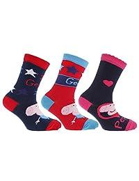 Childrens/Kids Peppa Pig Socks (Pack Of 3)