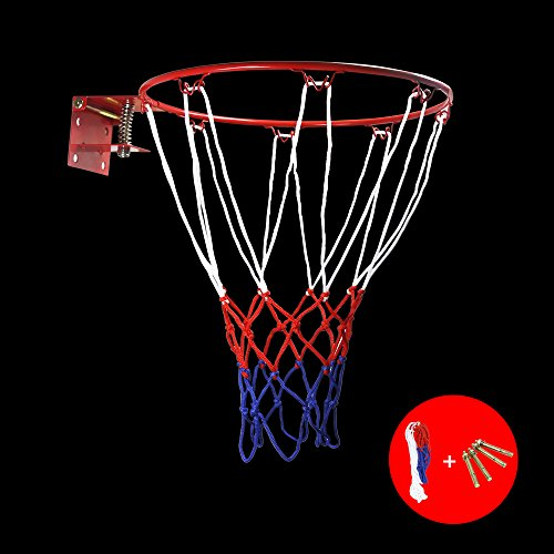 Mini Rim (ZUINIUBI Basketball Rim and Net Portable Collapsible Wall Mounted Hanging Baketball Goal Hoop Toy for Kids Indoor and Outdoor Sports 32cm 12.6