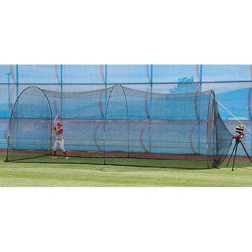 Heater Sports LITE-Ball Pitching Machine w/Bonus AUTO-Ball & 22' X 12' X 8' Home Batting CAGE