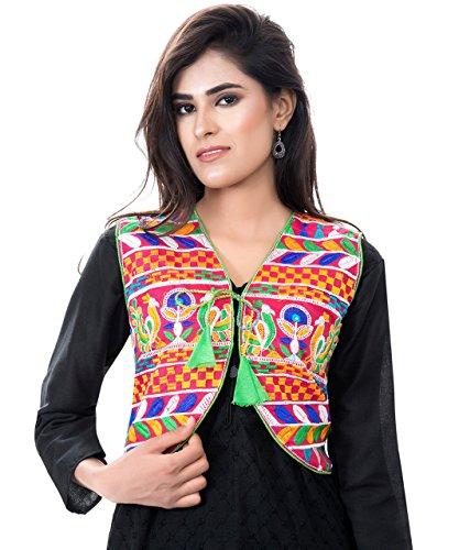 Banjara Women's India Kutchi Short Choli Jacket [Duck] Free Size (Embroidered Shrug)