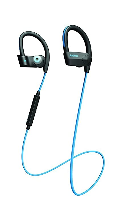 Jabra Sport PACE WL Bluetooth Headset (Black & Blue) Headphones at amazon