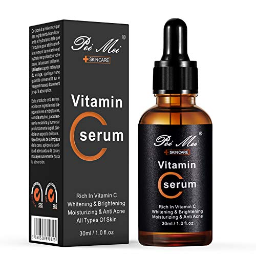 Vitamin C Serum For Face, Natural Moisturizing & Anti Acne Serum, Anti Aging Facial Serum, Reduce Appearance Of Wrinkles, Dark Circles, Fine Lines, Sun Damage