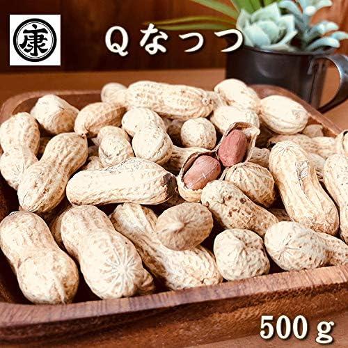 さや煎り Qなっつ 500g(250g×2袋) 令和元年産 千葉県産落花生 殻付き