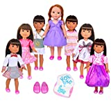 Fit All 14 inch or 14.5 inch American Girl Doll, such as Wellie Wishers Willa Dolls
