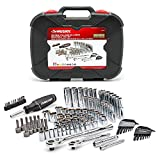 Mechanics Tool Set with Case Organizer Automotive (Husky 111-Piece) Box With Professional Auto Chrome Kit Equips. 72-Tooth Ratchet, 70 Sockets, High-Torque Screwdriver, Hex Keys & 39 Accessory