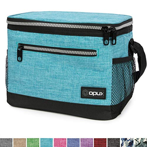 OPUX Premium Lunch Box, Insulated Lunch Bag for Men Women Adult | Durable School Lunch Pail for Boys, Girls, Kids | Soft Leakproof Medium Lunch Cooler Tote for Work Office | Fits 14 Cans (Turquoise)