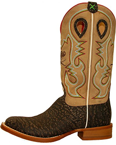 Twisted X Mens Ruff Stock Cowboy Boot Square Toe - Mrs0052 Taupe XWKGU4