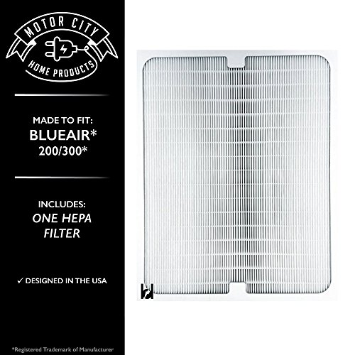 Blueair 200 300 Series Compatible Air Purifier Filter; Motor City Home Products Brand Replacement (1)