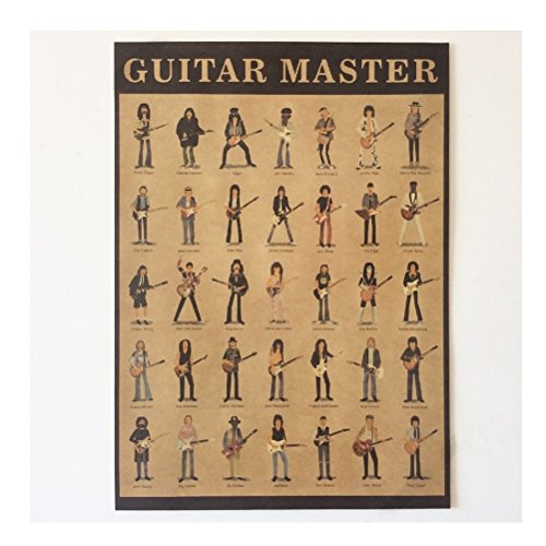 (Guitar Master Vintage Home Wall Decoration Poster 21x15 Inch(5338cm)paper Poster)