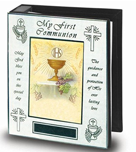 First Communion Photo Album Polished Brass Photo Album Certificate Included, Holds 72 4