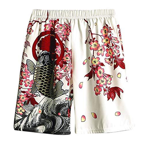 Casual Mens Swim Trunks Quick Dry Printed Beach Shorts Summer Boardshorts (Versace Die Eine)