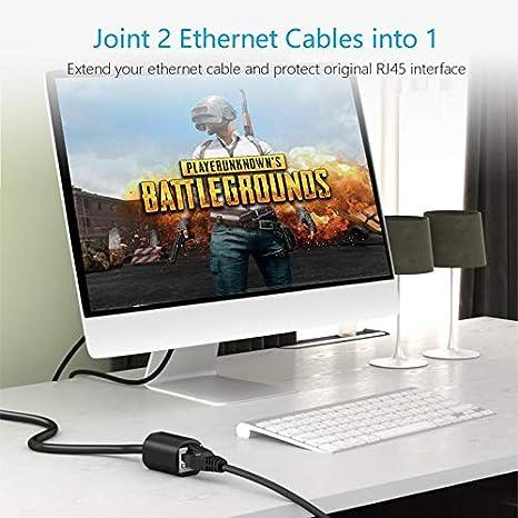 Computer Cables Network Extension Cable Extension Cable AdapterRj45 Computer Broadband Extension Connector Male to Female Network Connector Cable Length: 1.5m, Color: Black