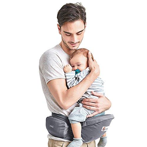 Kidsidol Baby Infant portador de asiento cadera ligero y seguro asiento de cintura para 0-36 meses bebé (gris)
