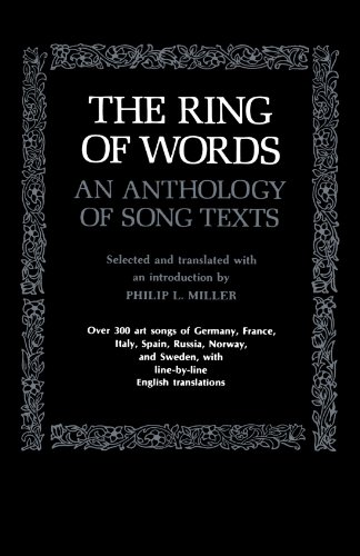 The Ring of Words: An Anthology of Song Texts (The Norton Library)