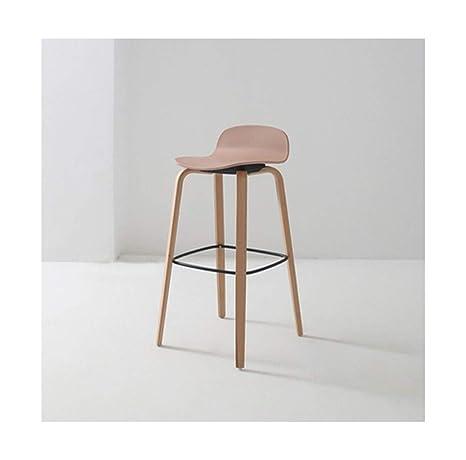 Amazon.com: WYQSZ - Silla alta de madera maciza nórdica ...