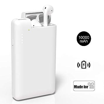 Lenture Batería Externa Power Bank 10000mAh con Estuche Carga para Airpods, Alta Capacidad Cargador Portátil Móvil Compatible con AirPod 1 2, iPhone ...