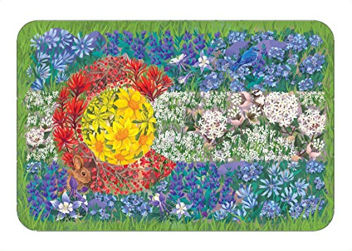 Colorado Wildflower Flag Sticker, Mountain Tough Outdoor Stickers, Waterproof Vinyl (4.5