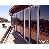 "VViViD One-Way Bronze Mirror Finish Vinyl Window Wrap Self-Adhesive Film Roll (12"" x 60"")"