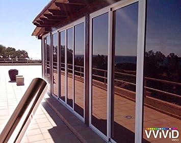 VViViD One-Way Bronze Mirror Finish Vinyl Window Wrap Self-Adhesive Film Roll (12 x 60) BHBUKPPAZINH1115