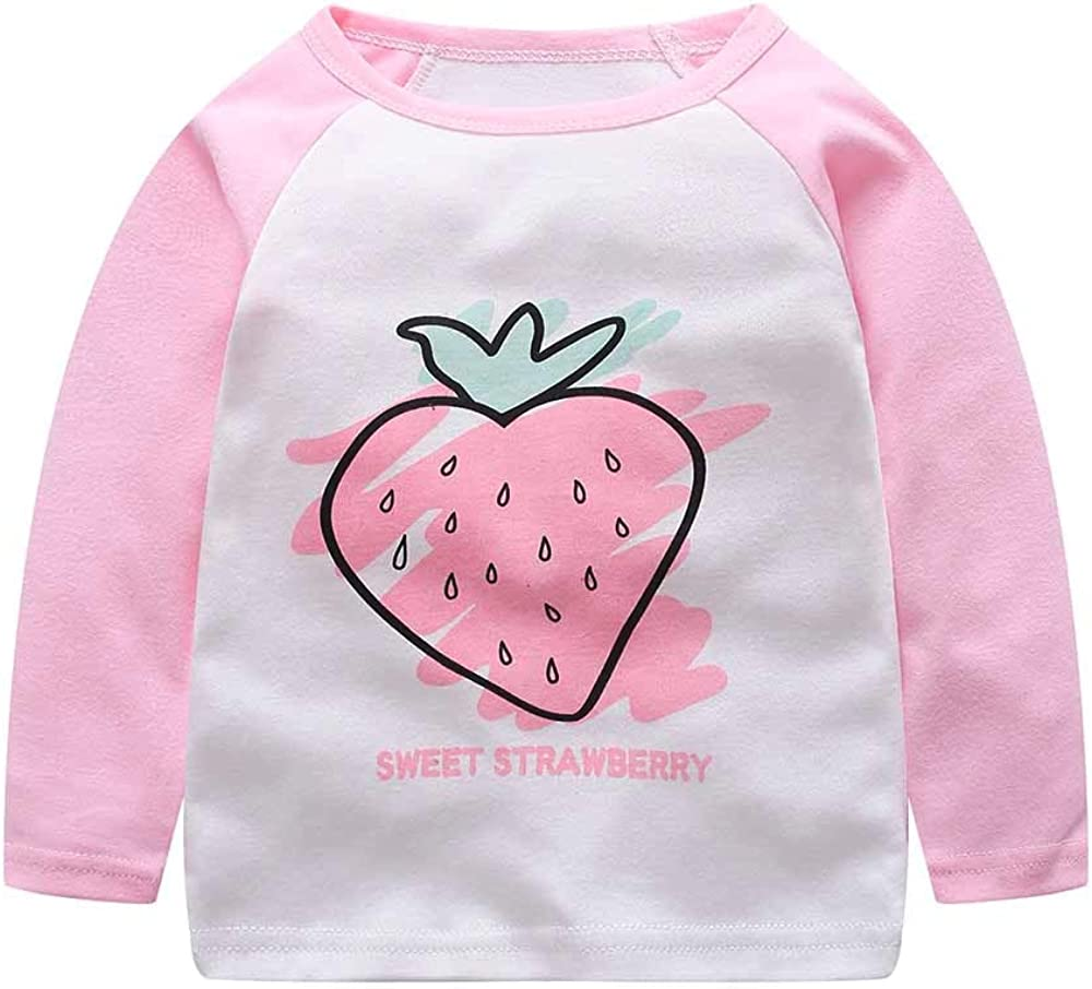 Stitching Cartoon Organic Cotton T-Shirt Outfits Long Sleeve Tee kaiCran Baby Boys Girls T-Shirt