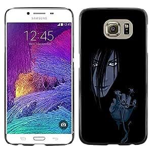Be Good Phone Accessory // Dura Cáscara cubierta Protectora Caso Carcasa Funda de Protección para Samsung Galaxy S6 SM-G920 // Evil Anime Girl