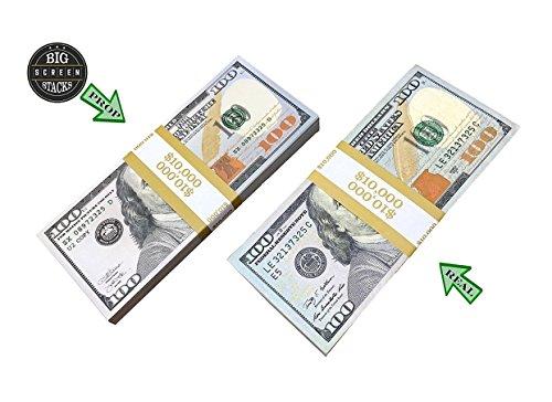 PROP MONEY DOLLARS - 300 FULL PRINT $100 DOLLAR BILLS