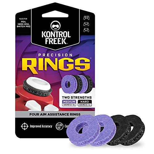 KontrolFreek Precision Rings | Aim Assist Motion Control for PlayStation 4 (PS4), PlayStation 5 (PS5), Xbox One, Xbox Series X, Switch Pro & Scuf Controller | 2 Different Strengths