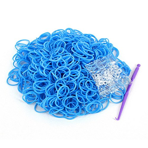 (Braided Rubber Bands - Rainbow Loom Rubber Band - 600PCS Rainbow Braided Rubber Bands Loom Refill Bracelet Rubber Anklet Kit Outdoor Multifunction Tools - Blue - Rainbow Loom Rubber)