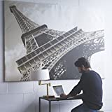 big eiffel tower - Large Eiffel Tower Picture with Frame Canvas 55 x 79 Inches Extra Large Wall Photo Art