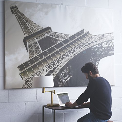 Large Eiffel Tower Picture with Frame Canvas 55 x 79 Inches Extra Large Wall Photo Art