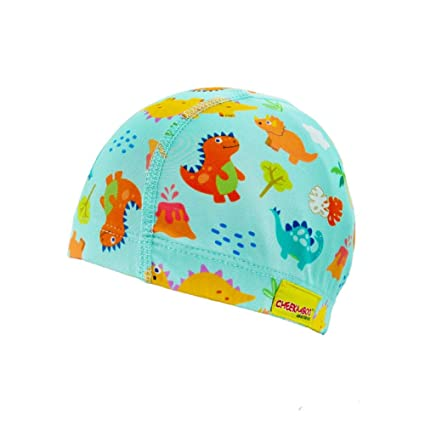 Cheekaaboo Swim Cap for Toddler and Kids Age 2-8